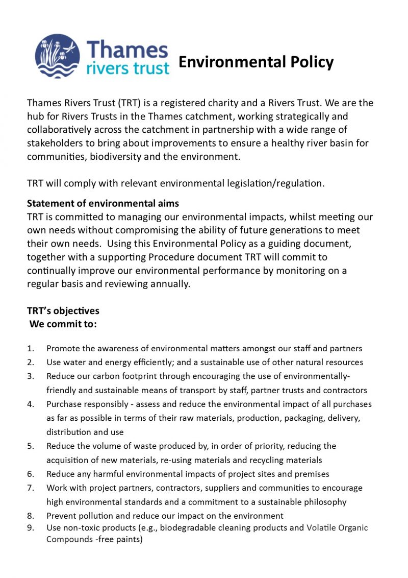 TRT Environmental Policy